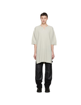 White Tunic T Shirt by Homme PlissÉ Issey Miyake