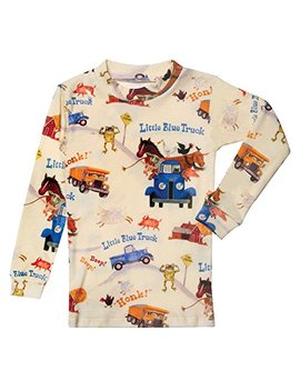 Children's Little Blue Truck Print Pajama Top And Bottom Set by Basically Kids/Books To Bed