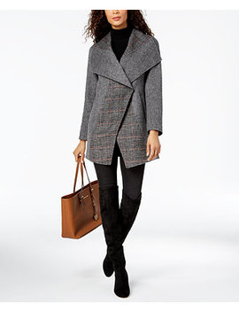 Asymmetrical Oversize Collar Coat by T Tahari