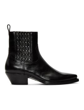 Black Studs Lukas Boots by Saint Laurent