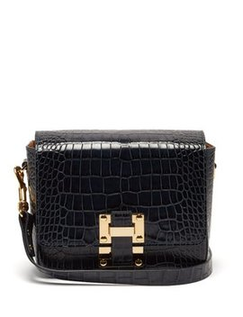 Quick Crocodile Embossed Leather Cross Body Bag by Matches Fashion