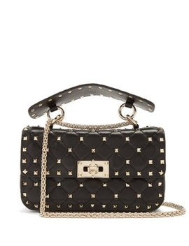 Rockstud Small Quilted Leather Shoulder Bag by Matches Fashion