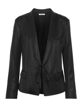 Tie Front Dupioni Blazer by T By Alexander Wang