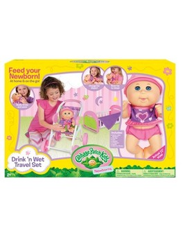 Cabbage Patch Kids Drink N Wet Travel Set by Cabbage Patch Kids