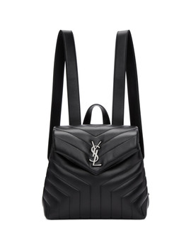 Black Small Loulou Backpack by Saint Laurent