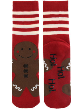 Gingerbread Socks One Size by Capelli New York