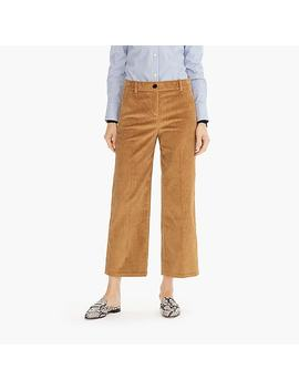 Petite Wide Leg Cropped Pant In Corduroy by J.Crew