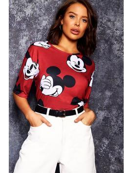 Disney Mickey Repeat Print Tee by Boohoo