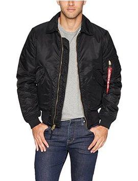 Alpha Industries Men's Cwu 45/P Slim Fit Mid Length Zip Flight Jacket by Alpha Industries