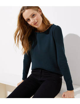 Stitchy Puff Sleeve Sweater by Loft
