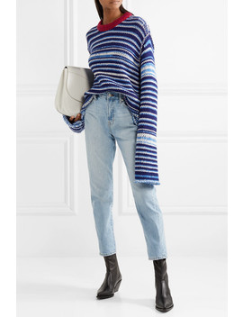 Oversized Striped Wool Sweater by Calvin Klein 205 W39 Nyc