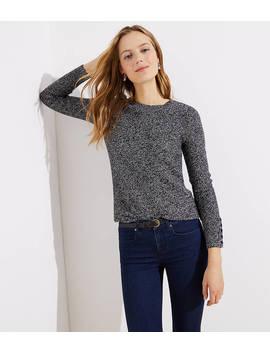 Marled Button Cuff Sweater by Loft