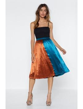 Going Fifty Fifty Midi Skirt by Nasty Gal