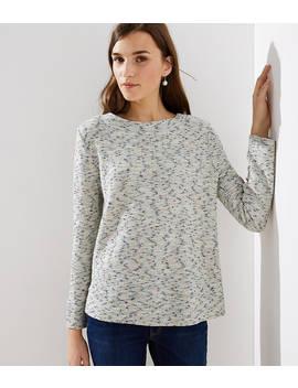 Boucle Mock Neck Sweatshirt by Loft