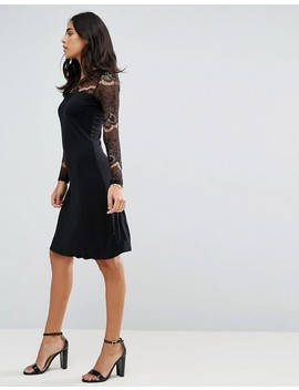 Y.A.S Ciccu Long Lace Sleeved Shift Dress by Y.A.S.