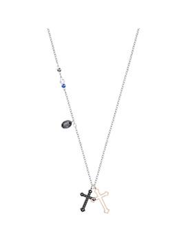 Duo Mini Cross Pendant, Multi Colored, Mixed Plating by Swarovski