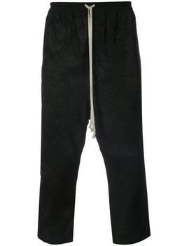 Drop Crotch Drawstring Trousers by Rick Owens
