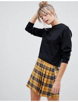 Pull&Bear Long Sleeved Top In Black by Pull&Bear