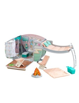 Kid Kraft Vintage Luxe Dolly Wooden Camper by Kid Kraft