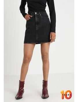 Mini Skirt   A Snit Nederdel/ A Formede Nederdele by Calvin Klein Jeans