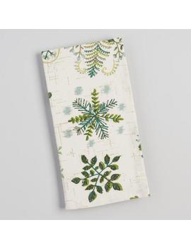 Botanical Snowflake Napkins Set Of 4 by World Market