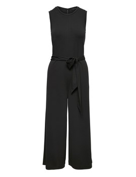 Soft Ponte Cropped Wide Leg Jumpsuit by Banana Repbulic