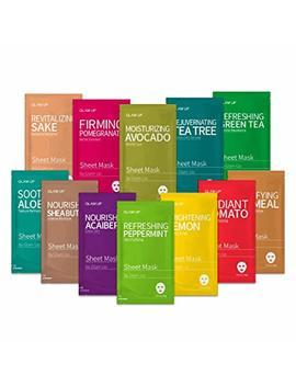 Sheet Mask By Glam Up Facial Sheet Mask Bts Combo The Ultimate Supreme Collection For Every Skin Condition Day To Day Skin Concerns. Nature Made Freshly Packed Original Korean Face Mask... by Glam Up