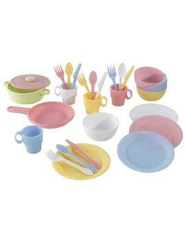 Kid Kraft Pastel Cookware 27 Piece Set by Kid Kraft