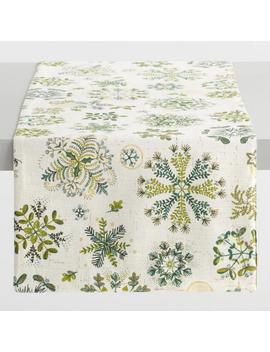 Botanical Snowflake Table Runner by World Market