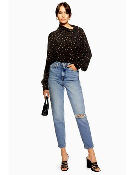 Bleach Vintage Rip Mom Jeans by Topshop