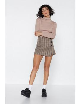 Business In The Front Check Shorts by Nasty Gal