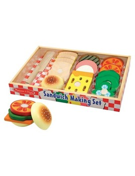 Melissa & Doug® Wooden Sandwich Making Pretend Play Food Set by Melissa & Doug