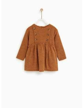 Buttoned Chenille Dress  New Inbaby Girl by Zara
