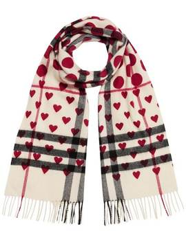 Classic Heart Check Scarf by Burberry