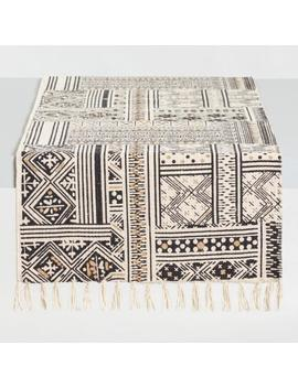 Black And White Patchwork Ravi Table Runner by World Market