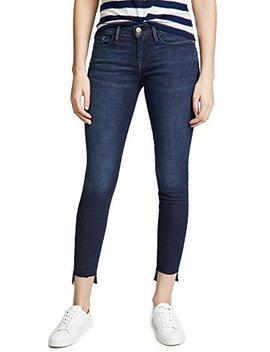 Frame Women's Le Skinny De Jeanne Stagger Hem Jeans by Frame