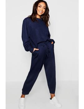 Chunky Knit Loungewear Set by Boohoo