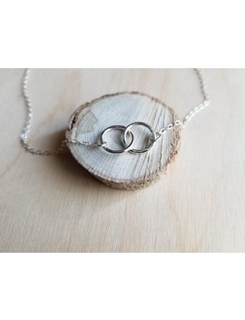 Interlocking Circle Necklace   Silver Circle Necklace   Entwined Circle Necklace   Best Friend Gift   Sister Gift   Little Circles Necklace by Etsy