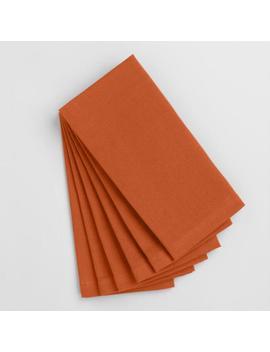 Flame Orange Buffet Napkins Set Of 6 by World Market