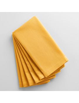 Mimosa Yellow Buffet Napkins Set Of 6 by World Market