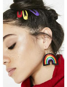 Bring Sunshine Rainbow Patch Earrings by Ana Accessories