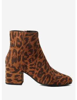 Leopard 'aubree' Block Heel by Dorothy Perkins