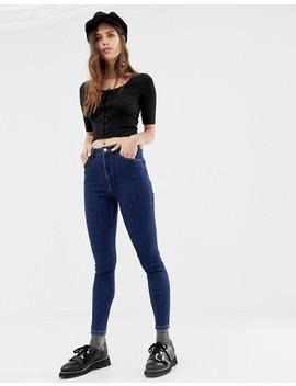 Reclaimed Vintage The '90 Skinny Jeans In Dark Stone Wash by Reclaimed Vintage