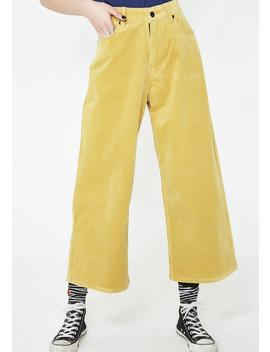 Yellow Cord Trousers by Lazy Oaf