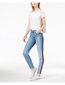 Charlie Velvet Trim Ankle Skinny Jeans by Joe's Jeans