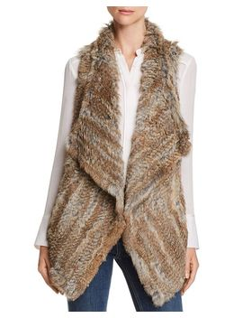 Rabbit Fur & Cashmere Vest   100 Percents Exclusive by C By Bloomingdale's
