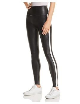 Faux Leather Stripe Leggings by Spanx®