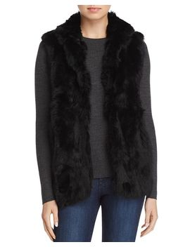 Rabbit Fur Vest by Adrienne Landau