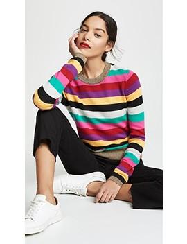 Stripe Sweater With Metallic Rib by Pam & Gela
