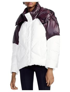 Brax Two Tone Puffer Jacket by Maje